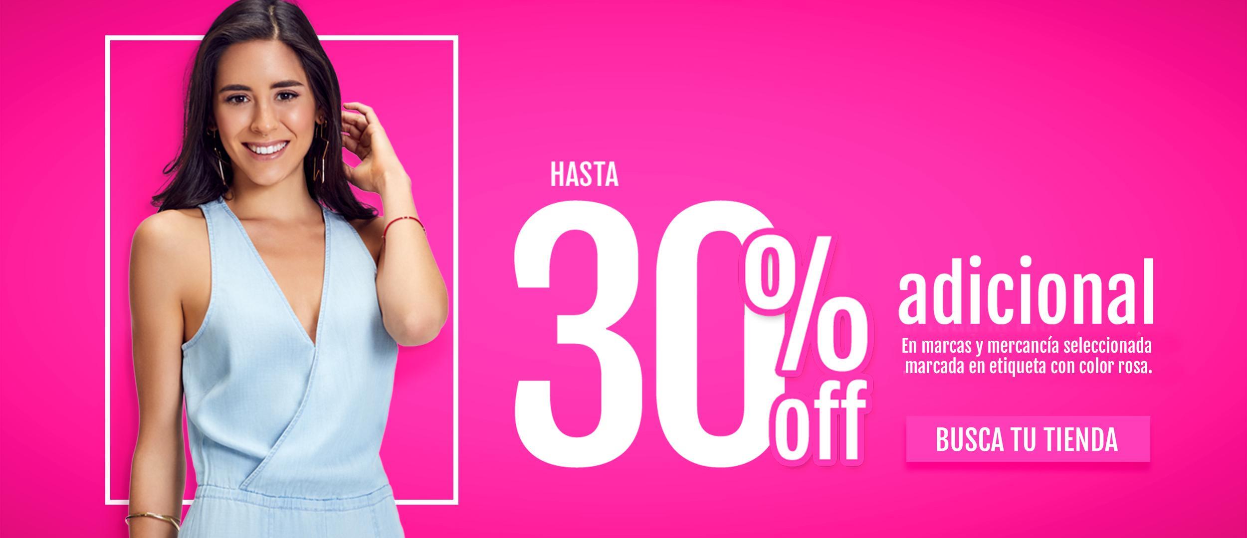 30% adicional rosa